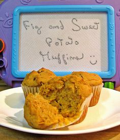 Gluten Free Fig and Sweet Potato Muffins