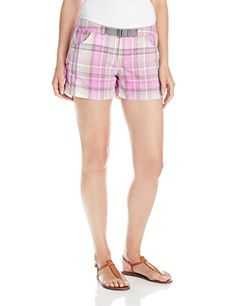 Columbia Womens Cross on Over II Plaid Shorts Foxglove 8 x 4 ** Click image for more details.(This is an Amazon affiliate link)