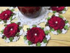 Centro de Mesa Cerejeira em Crochê por Marcelo Nunes - YouTube Crochet Motif, Crochet Doilies, Crochet Flowers, Crochet Patterns, Crochet Backpack, Crochet Tablecloth, Crochet For Beginners, Crochet Projects, Diy And Crafts