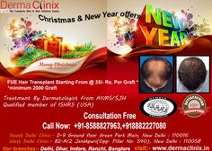 Hair Problems, No Problem, New you in New Years  FUE hair transplant starting from @35/- Rs per graft*   Only Christmas & New Year Offers  Consultation Free   Call Now: +91-8588827963, +918882227080