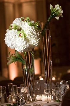 Hydrangeas and orchids