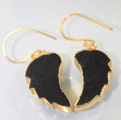 Zj-3383 Supar Sale MArvalous Mona Lisa 24k Gold Plated Earring Jewelry  #Handmade #DropDangle