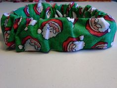 Slide On Christmas Dog Collar Scrunchie Cotton Custom Made by Linda XS S M L #CustommadebyLinda