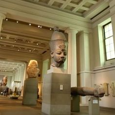 Our Egyptian Sculpture Gallery (Room 4) spans over 3,000 years of history! The gallery contains iconic objects such as the Rosetta Stone – the key to deciphering ancient Egyptian hieroglyphs – and the colossal 7.25 ton statue of the famous pharaoh Ramesses II. What's your favourite object in this gallery? #AncientEgypt #Egypt #Thebes #RosettaStone #sculpture #statue #history #BritishMuseum #mybritishmuseum