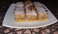 Prajitura secuiasca cu nuca Romanian Desserts, Romanian Food, Romanian Recipes, Cheesecakes, Banana Bread, French Toast, Sweet Treats, Food And Drink, Sweets