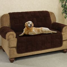 Small Sectional Sofa Microplush Pet Furniture Covers with Longer Back Flap