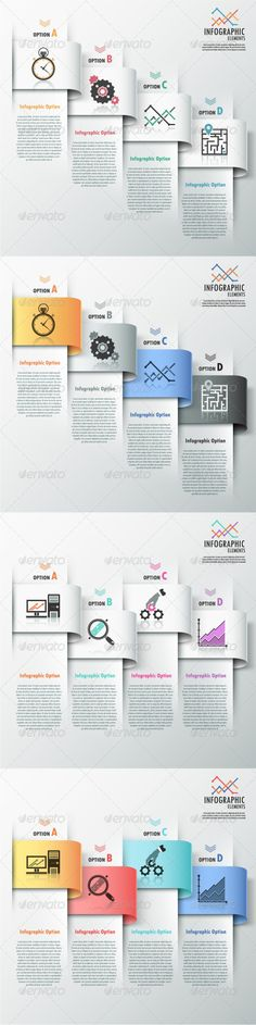 Modern Infographic Options Banner (4 Versions) - Infographics