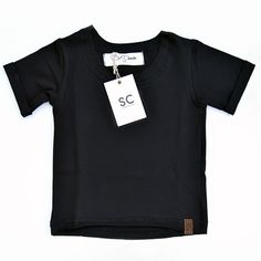 SC DENIM Raw Cut Tee (Black) , tees - SC DENIM, Susiescustom - 1