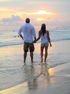 Walks on the beach at sunset/ beach pictures