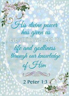 *♥♥♥* Uplifting Thoughts, Lord Is My Strength, 2 Peter, Joy Of The Lord, Favorite Bible Verses, God Jesus, Christian Inspiration, Word Of God, Inspirational Scriptures