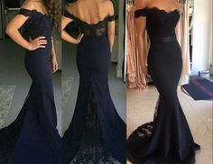 Ulass Prom Dresses Navy Blue Mermaid Prom Dresses Sexy Bridesmaid Dresses Off The Shoulder Lace Bridesmaid Dresses Party Dresses sold by Ulass. Shop more products from Ulass on Storenvy, the home of independent small businesses all over the world. Navy Blue Party Dress, Mermaid Prom Dresses Lace, Navy Blue Bridesmaid Dresses, Black Prom Dresses, Lace Evening Dresses, Prom Party Dresses, Homecoming Dresses, Dress Lace, Dress Prom