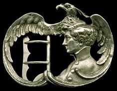 Napoleon II called L'Aiglon (eaglet) belt buckle