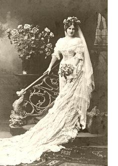 Beautiful vintage Bride