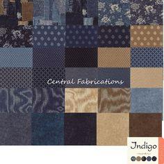 Indigo Fat Eighth Bundle by  Moda Fabrics by CentralFabrications