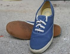 Vintage KEDS Women's Navy Blue Sz 9 Sneakers by jeannebeanietings, $24.00
