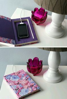 Charging station made from an old book!!!