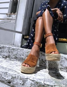 Platform wedge heels with strappy Color: Brown, Black, Apricot Size: (CN Size) Platform: Heel High: Sole: Viscose Shoes Fabric Material: PU,Suede Platform Wedge Sandals, Wedge Shoes, Toe Shoes, Sandal Heels, Platform Shoes, Backless Loafers, Giuseppe Zanotti Heels, Sandals Outfit, Shoes Sandals