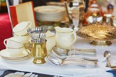 Silverware on a Parisian flea market , Market Stands, My French Country Home, Christmas Tale, Fleas, Parisian, Table Settings, Stock Photos, Table Decorations, Oslo