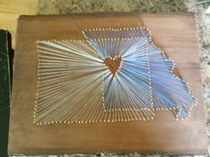 Denver, CO and KC,MO string art