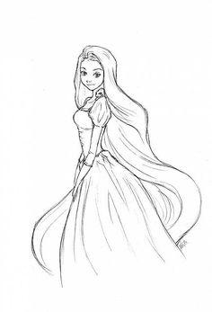 Rapunzel 3 disegni da colorare gratis