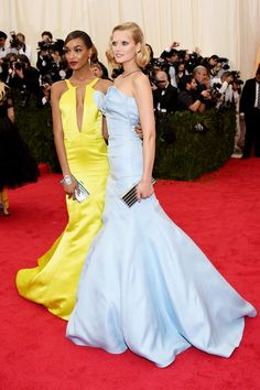 Jourdan Dunn and Toni Garrn, who both wore bespoke Topshop gowns.