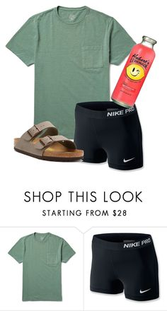 """""""You're gonna be popular"""" by so-preppy ❤ liked on Polyvore featuring J.Crew, NIKE and Birkenstock"""