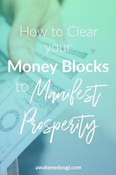 Most people have limiting beliefs about money that are stopping them from manifesting the wealth they want. Find out how to clear your money blocks and manifest prosperity today! Law Of Attraction Money, Law Of Attraction Quotes, Money Affirmations, Positive Affirmations, Manifestation Law Of Attraction, Manifestation Journal, Attract Money, Manifesting Money, Meaningful Life
