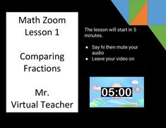 Plan a distance learning math lesson for elementary students using a Google Slides template. This tool has all the component parts of teaching a math lesson for using Zoom or Google Hangout/Meet. Learn about tips, resources and see examples of an online math lesson. Find out how to get a FREE Google Slides template to teach math through distance learning. #twoboysandadad Learning Targets, Learning Objectives, Math Teacher, Teaching Math, Supply Labels, Math Coach, Teaching Profession, School Closures, 8th Grade Math