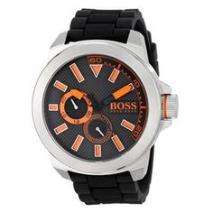 b88a65608f6 Relógio Hugo Boss Masculino Borracha Preta - 1513011 Produtividade
