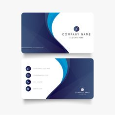 Modern blue business card with abstract shapes Free Vector - BestGrap Abstract Logo, Abstract Shapes, Blue Abstract, Business Cards Layout, Business Card Design, Logo Design, Brochure Design, Visiting Card Design, Automotive Logo