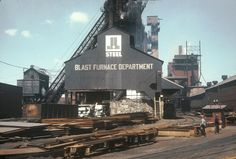 Blast Furnace Department Aliquippa Works J&L Steel. (Photo is courtesy of Beaver County Industrial Museum.)