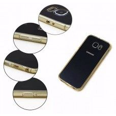 Samsung Galaxy S6 - Clear PC TPU Bumper Shock-Absorption Anti-Scratch Phone Protective Cover Case - Green