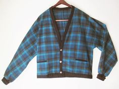 Vintage 50s PENDLETON Plaid Wool Men's Mr. Rogers by FourCoquettes
