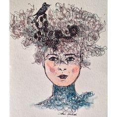 Um formosa dama - Aquarela