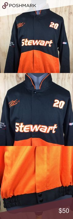 Tony Stewart NASCAR Racing Jacket Mens Large This jacket is in outstanding  condition! No rips dcbfa1097