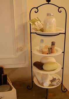 Bathroom Storage Ideas for Small Spaces - Plateful of Goodies - Click Pic for 42 DIY Bathroom Organization Ideas