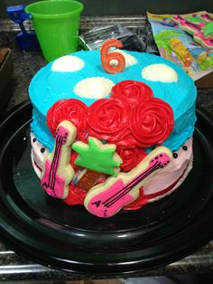 My attempt at a Teen Beach Movie inspired cake for my daughter's birthday :)