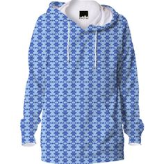 Blue Fractal Pattern Hoodie from Print All Over Me