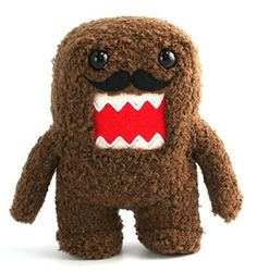 *Stands approximately 6 inches tall *Soft polyester plush *Great for Domo fans of all ages *Brand new with tags Oh look Domo's got a cookie duster! Hey it's pretty hard to shave in a dark cave! Get yo