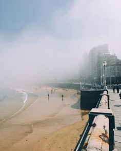 Foggy day today in Gijón! Will go explore a bit more of #Asturias now!  #Gijón #Spain #traveler #backpacker #medicaldoctor #coffeelover #bookworm #north #sea #fog #foggy #gijon #gijoneando