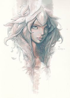 Illustration / The flower fairy by engkit