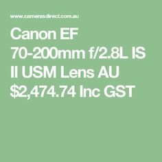 Canon IS Version II is one of the most popular of all Canon L series lenses. This lens is soon to be discontinued with Version III. Canon L Series, Canon Ef, Camera Lens, Search, Lenses, Searching