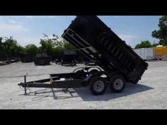 Dump Trailer 7'x14' Hydraulic Roofing Trailer 3' Sides 7000 lbs Axles - http://sleequipment.com/news/dump-trailer-7x14-hydraulic-roofing-trailer-3-sides-7000-lbs-axles/