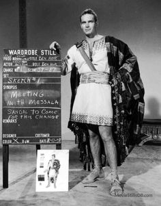 Ben-Hur - Behind the scenes photo of Charlton Heston