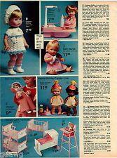 1977 ADVERT Eegee Doll Softears Softina Ginny Baby Burps Happy Birthday Tender
