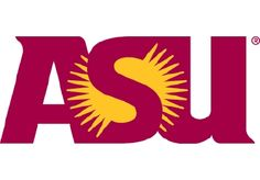 Arizona State Sun Devils Wordmark Logo - Red ASU with sun