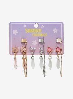 Kawaii Jewelry, Kawaii Accessories, Jewelry Accessories, Ear Jewelry, Cute Jewelry, Jewlery, Body Jewelry, Grunge, Magical Jewelry