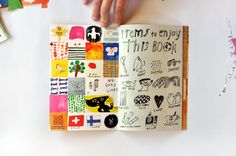 I consider this an example of what I refer to as [calendar journaling] ☛ entries of color, doodle, bits of thought // Éditions du livre | Kosho Kosho / Mogu Takahashi