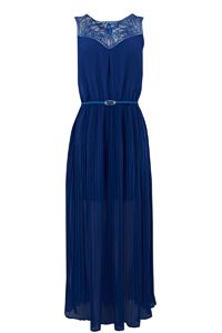Trimmed Chiffon Maxi Dress