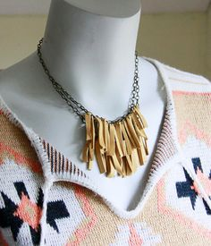 Leather Fringe Necklace by Objects and Subjects